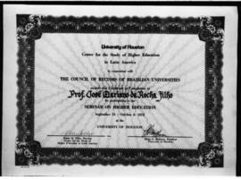 JMRF - Certificate of Completion for Participation in the Seminar on Higer Education