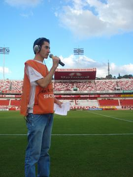 Cobertura do programa Radar no jogo do Internacional x Inter-SM